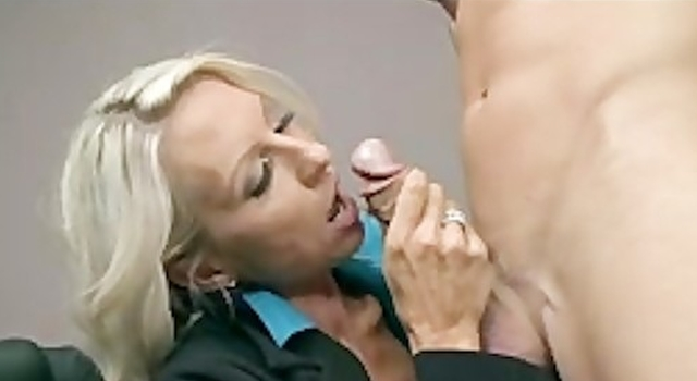 Fat TIT BLONDE MILF BOSS IN..